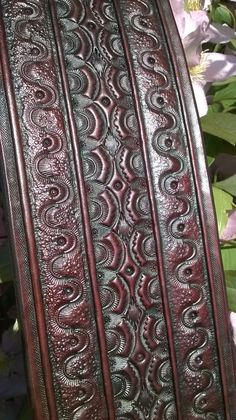 Hand Tooled Leather Guitar Strap La Serpentina by AncientAffinity