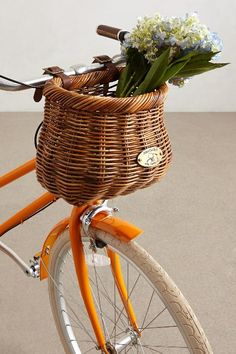 Beautiful bicycle basket by the Nantucket Bike Basket Co.
