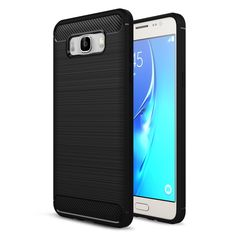 Shell for Galaxy J7 (2016)SM-J710 Phone Cases Carbon Fibre Brushed TPU Case Cover for Samsung Galaxy J 7(2016) Mobile Phone Bag