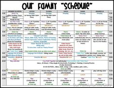 Schedule 2011-2012 pic