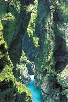 River Soča, Slovenia.