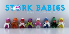 Stork Babies! Adorable 3 inch bean dolls! Coming to stores and online in November!