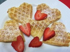 Waffles de San Valentín
