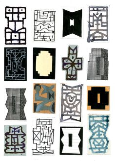 Tribu Victor Marqué Mais 2018 Abstract Drawings, Abstract Art, Textile Fiber Art, Sculpture, Site Design, Gouache, Zine, Paper Art, Shapes