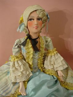 Poupee DE Salon Ancienne Vintage BED Doll Boudoir 1925 30 Mode ART Deco | eBay