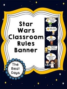 Star Wars Themed RulesThanks for downloading this product! Please take a minute and provide feedback on it. Also, click Follow Me to get updates on when I post new products. Just print out the pictures, trim off the white edges and glue the pictures together to create a classroom rules banner!