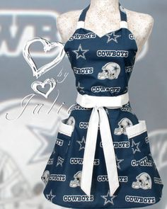 Cowboys Apron NFL football Dallas Cowboys Blue and by apronqueen, $29.95