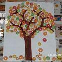 Fruit loops fall tree! Use pretzels to make tree and kids can eat it when they are done crafting :)
