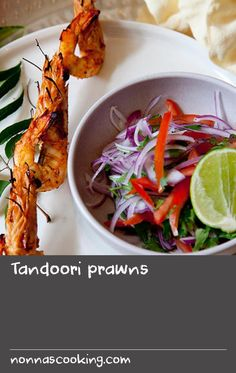 """Tandoori prawns 