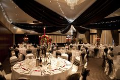 The Grand Ballroom at The Felbridge Hotel and Spa, another beautiful way to dress the room.