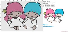 Little Twin Star cross stitch pattern