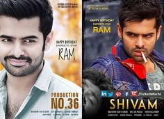 Ram Pothineni new Look in #SHIVAM & #HARIKATHA (working title) ... Planning both the releases this year..  Wishing energetic star #Ram advanced Happy birthday!!