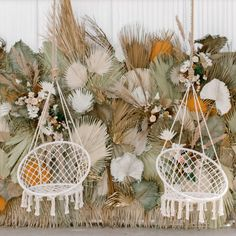 Macrame Hammock Chair Swings Our best selling macrame chair swings are back in stock! Here they are shining so bright at the tassels & tastemakers event in Los Angeles. How beautiful is this palm backdrop? Boho Wedding, Floral Wedding, Wedding Flowers, Party Wedding, Outdoor Hammock Chair, Bodas Boho Chic, Floral Backdrop, Best Wedding Venues, Swinging Chair