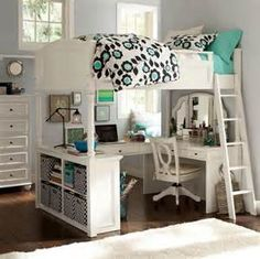 open space with cubbies and desk
