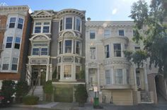 San Francisco, Californië: Pacific Heights Victorian Houses