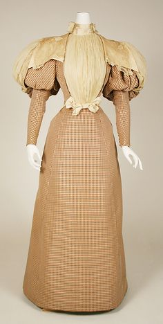 Silk dress, ca. 1890, House of Worth (French)