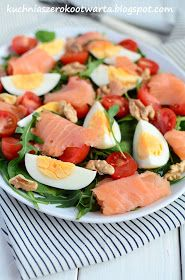 Fish Salad, Tuna Salad, Caprese Salad, Fruit Salad, Cooking Recipes, Healthy Recipes, Fodmap, Love Food, Food And Drink