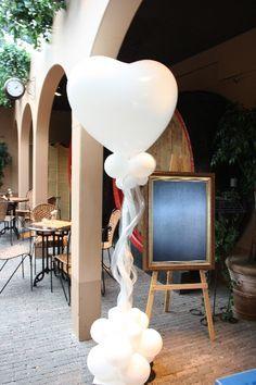 Ballonhartpilaar, gemaakt voor een bruiloft in de Heeren van Dongen.