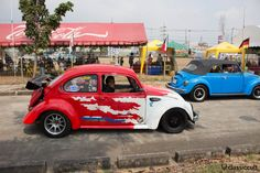 Thai Drag Racing VW Beetle, side view http://www.classiccult.com/blog/siam-vw-festival-2014.html