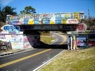 Graffiti Bridge, Pensacola, FL. This is a landmark and it changes all the time.