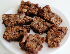 Chewy, Fudgy Ferrero Rocher Brownie Bars!  #FerreroRocher #BrownieLove