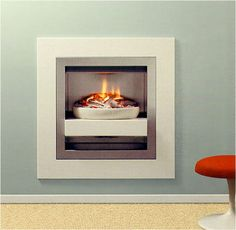fireplace surrounds flush with wall