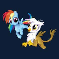 ======= Shirt for Sale ======= Rainbow Dash and Gilda My Little Pony tshirt by Kaiserin   =======================   #mlp #season5