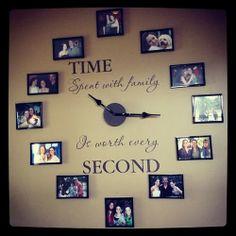 fotoğraflardan oluşturulmuş duvar saati