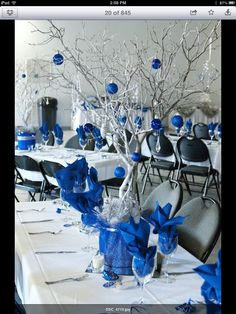 Blue and sliver wedding