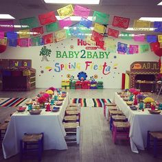 Party decor for the spring fiesta with @baby2baby and @huggies. Hosted by #jennifergarner #cincodemayoparty #fireandcremekids #partydecor #snuganddry