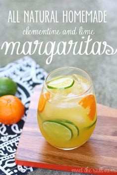 Thirsty Thursday | All-Natural Homemade Margaritas