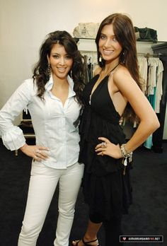 Kim K. and Brittny Gastineau OMG not sure about this one Kim especially the hair!!! This must be before she got a stylist!
