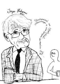 Jürgen Habermas (1929-) is a German sociologist working at the intersection of Critical Theory & Pragmatism. He is perhaps best known for his theory on the concepts of Communicative rationality & the Public sphere. His work has been used to analyze advanced capitalist societies & democracy. Habermas' theory is devoted to revealing the possibility of reason, emancipation, & rational-critical communication & in the human capacity to deliberate & pursue rational interests (Wikipedia).
