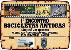 1º Encontro de Bicicletas antigas em São José ~ Pedala Floripa