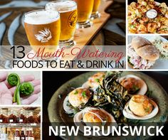 We share 13 foods you have to eat when you visit New Brunswick, Canada; from fresh, local lobster to fiddlehead ferns and even tasty seaweed. After a dozen years of living and eating in Europ East Coast Canada, New Brunswick Canada, Discover Canada, Atlantic Canada, Mouth Watering Food, Foods To Eat, Fine Dining, Tasty, Fresh