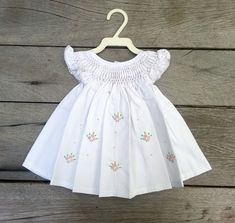 Shop sexy club dresses, jeans, shoes, bodysuits, skirts and more. Girls Smocked Dresses, Little Girl Dresses, Cute Dresses, Smocking Baby, Baby Dress Patterns, Kids Frocks, Frock Design, Toddler Girl Style, Baby Gown