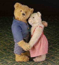 Steiff Dancing bears from a 1920s display: I couldn't resist putting them in this category.