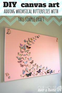 diy-canvas-art-idea-with-butterflies-1 Diy Canvas Art d7cce095e44e