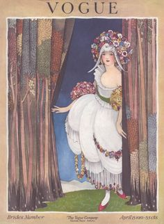 ⍌ Vintage Vogue ⍌ art and illustration for vogue magazine covers - April 1919 - Brides Number - Illustration by George Wolfe Plank