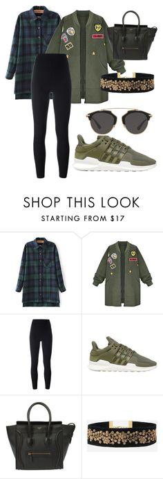 """""""Untitled #20"""" by yadira-lira ❤ liked on Polyvore featuring WithChic, adidas Originals and Christian Dior"""