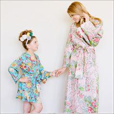 Junior Bridesmaid Kimono Style Robe - Plum Pretty Sugar