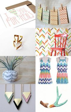 """Zig and Zag"" by Milli Starr #chevron #herringbone #zigzag Click image to view full treasury and/or individual items on Etsy--Pinned with TreasuryPin.com"