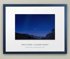 First Anniversary Gift Ideas: Weding Night Sky Print
