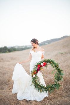 fall-themed wreaths - photo by Lindsey Gage Photography http://ruffledblog.com/fields-of-gold-wedding-ideas