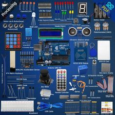 Adeept RFID Starter Leaning Kit for Arduino UNO With Guide Book Processing for sale online Diy Electronics, Electronics Projects, Consumer Electronics, Arduino Pdf, Rfid Arduino, Arduino Parts, Raspberry Pi 2, Raspberry Pi Projects, Bar Graphs