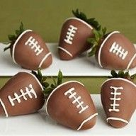Superbowl party idea  A lotta work but cute