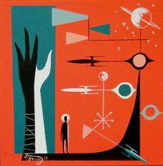 60s Art, 70s Sci Fi Art, Retro Art, Modern Retro, Midcentury Modern, Wave Illustration, Vintage Space, Mid Century Art, To Infinity And Beyond