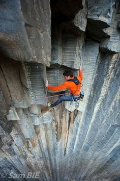rock climbing in Garni Gorge, Armenia