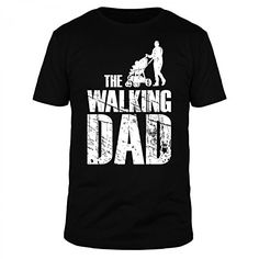 FABTEE - The Walking Dad - Herren T-Shirt - Größen S-3XL, Farbe:Schwarz The Walking Dad, Thing 1, Herren T Shirt, Mens Tops, Shopping, Guy Gifts, Father's Day, Color Black, Funny Stuff