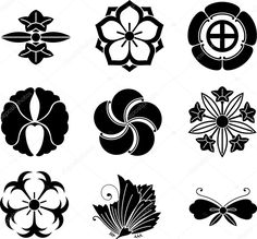 Find Family set of black sketch. Stock Images in HD and millions of other royalty-free stock photos, illustrations, and vectors in the Shutterstock collection. Flower Pattern Drawing, Flower Patterns, Japanese Design, Japanese Art, Tattoo Familia, Family Crest Symbols, Japanese Family Crest, Nouveau Tattoo, Family Shield